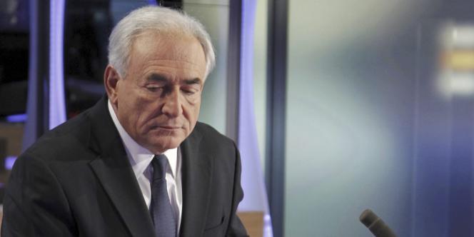Dominique Strauss-Kahn, sur le plateau de TF1, le 18 septembre 2011.