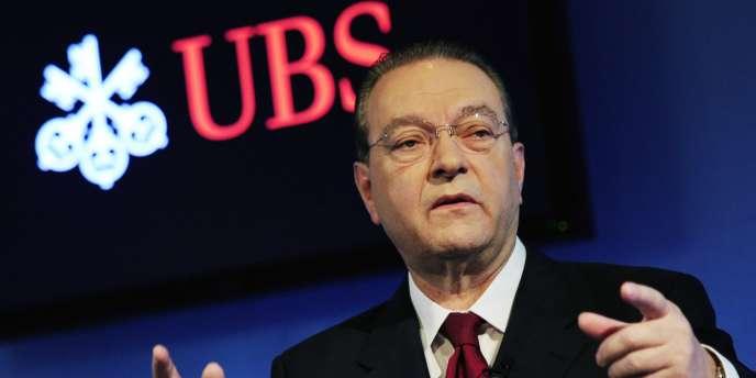 Le directeur général d'UBS, Oswald Grübel, à Zurich en juillet 2010.
