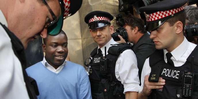 Le trader d'UBS mis en cause, Kweku Adoboli, le 16 septembre 2011, à Londres.