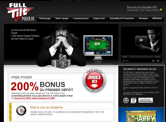 Depuis le retrait de son agrément, Full Tilt Poker est
