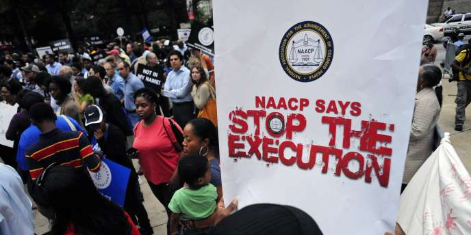 Manifestation en soutien à Troy Davis à Atlanta, mardi 20 septembre.