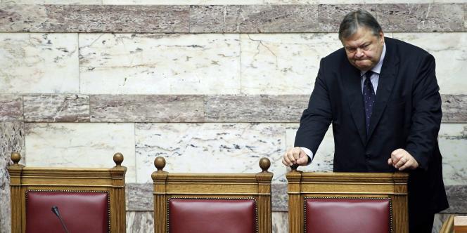 Le ministre des finances grec, Evangelos Vénizélos, au Parlement grec, mardi 20 septembre.