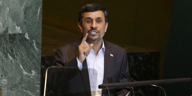 Le président iranien Mahmoud Ahmadinejad à la tribune de la 66e assemblée générale des Nations unies, le 22 septembre.