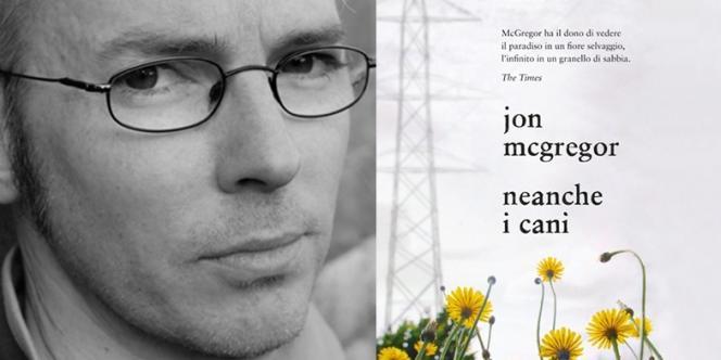 Jon McGregor sur la couverture de la version italienne de son roman,