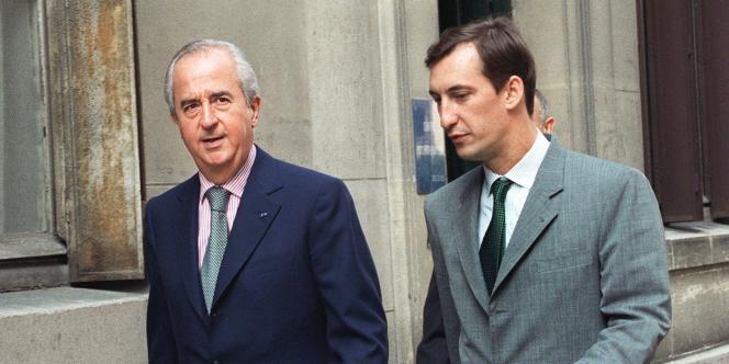 Nicolas Bazire (à droite), directeur de campagne de l'ex-premier ministre Edouard Balladur en 1995, le 20 juillet 1994.