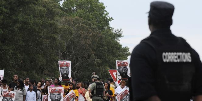Manifestation en faveur de Troy Davis, devant la prison la prison de Jackson en Géorgie.
