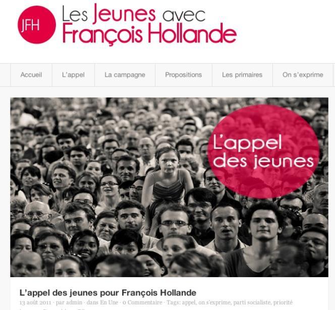 Une capture d'écran de la photo prise lors d'un meeting de Nicolas Sarkozy en 2007, qui a servi à illustrer