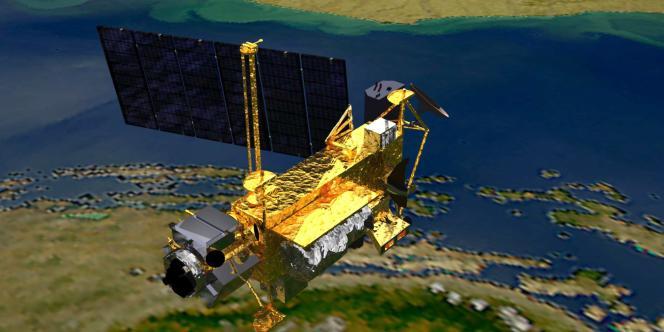Image de synthèse fournie par la NASA, montrant le satellite