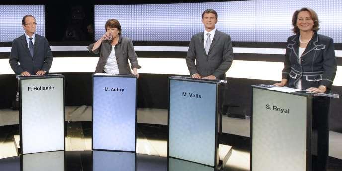C'est la deuxième fois que la question du nucléaire oppose deux candidats socialistes, après le débat télévisé du 15 septembre.