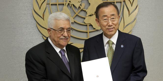 Mahmoud Abbas et Ban Ki-moon à l'ONU, le 23 septembre 2011.