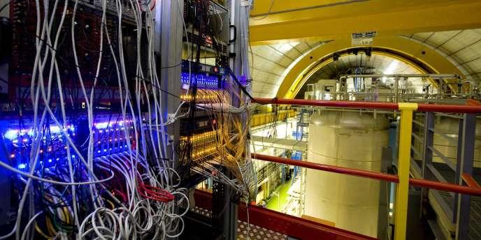 Vue générale du détecteur Opera, dans le laboratoire souterrain de Gran Sasso, à Aquila, en Italie.