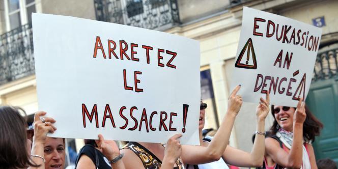 Manifestation des enseignants, mardi 27 septembre.