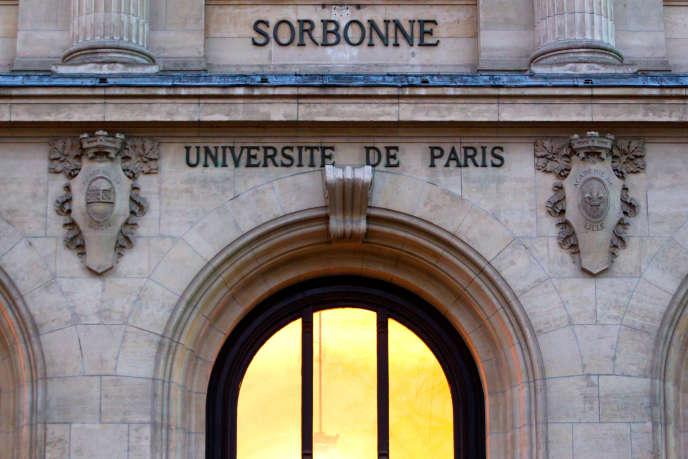 L'université de la Sorbonne, le 26 janvier 2011.