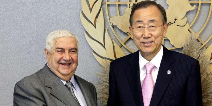 Lundi, le ministre des affaires étrangères syrien a accusé l'Occident de vouloir semer le