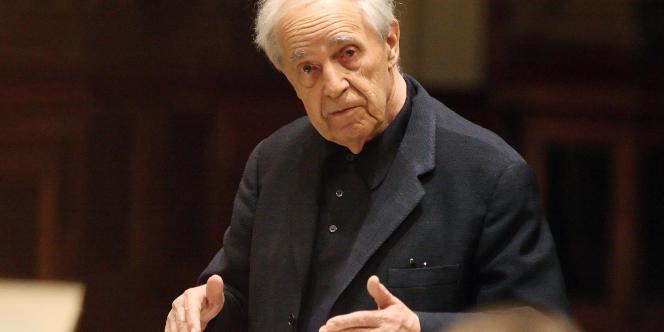 Le compositeur et chef d'orchestre Pierre Boulez à Vienne en mars 2010.