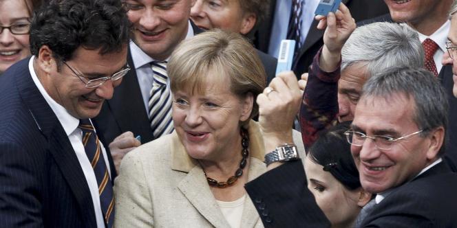 Angela Merkel, au Bundestag, le 29 septembre 2011.