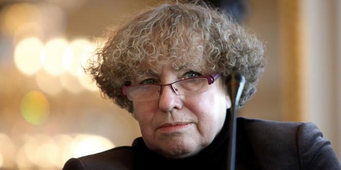 La présidente de la Hadopi, Marie-Françoise Marais, le 8 janvier 2010.