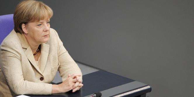 Angela Merkel au Bundestag, le 29 septembre 2011.