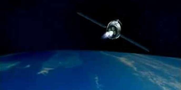 Une animation 3D du module spatial Tiangong-1, diffusée le 28 septembre en vue de son lancement expérimental, ouvrant la voie à la première station chinoise.