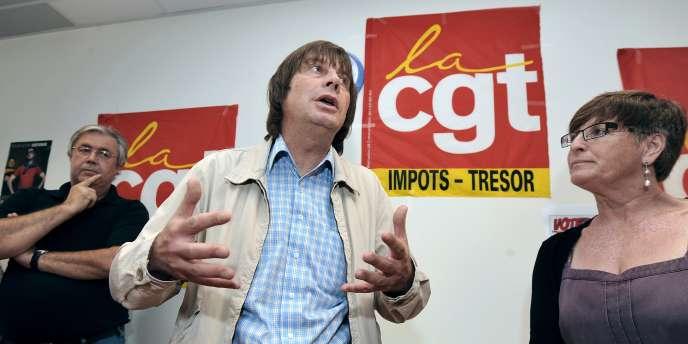 Bernard Thibault secrétaire général de la CGT.