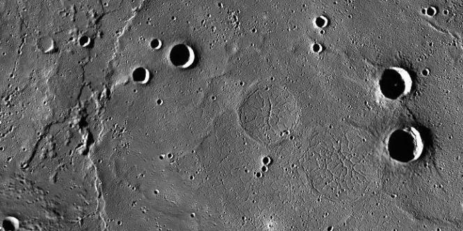 Le bassin de Goethe au pole nord de Mercure