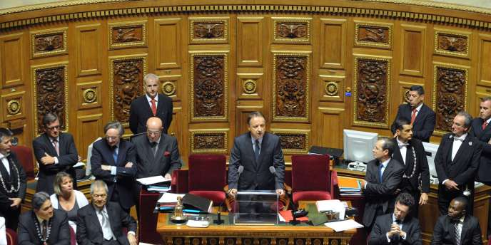 Jean-Pierre Bel, lors de son discours d'investiture, le 1er octobre 2011.