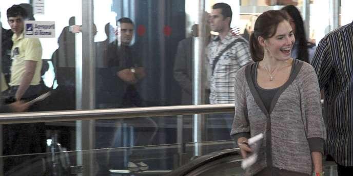Amanda Knox a quitté l'Italie mardi pour rejoindre Seattle.