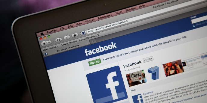 Une page du réseau social Facebook.