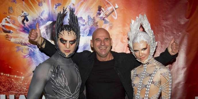 Le fondateur du Cirque du Soleil, Guy Laliberté, lors de la première du spectacle sur Michael Jackson à Montréal, le 2 octobre 2011.