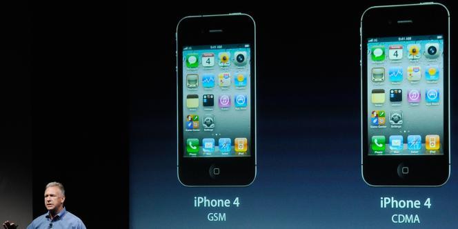 La présentation de l'iPhone 4S, mardi 4 octobre.