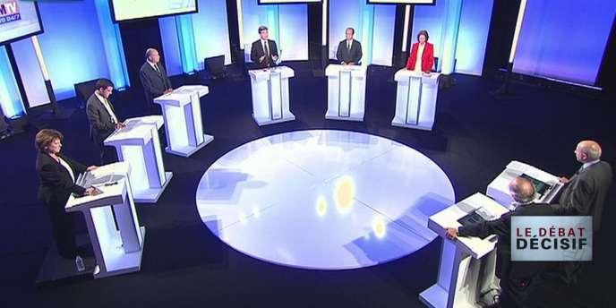 Le troisième débat entre les candidats à la primaire, le 5 octobre 2011.