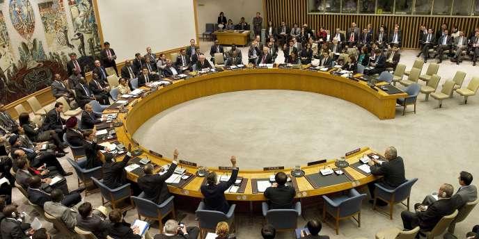 Le Conseil de sécurité des Nations unies, ici en octobre 2011.