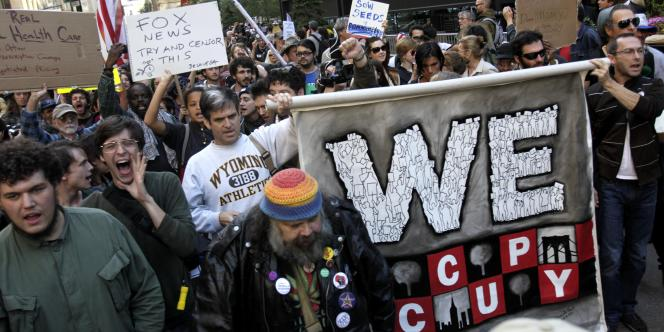 Manifestation du mouvement Occupy Wall Street à New York, le 5 octobre 2011.