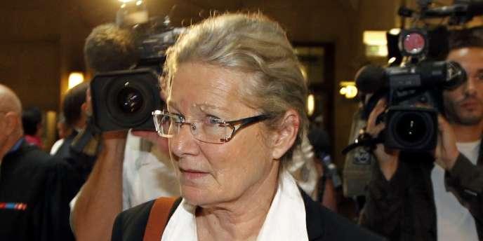 Danielle Gonnin, ex femme du médecin allemand Dieter Krombach, à la cour d'assises de Paris, le 4 octobre.