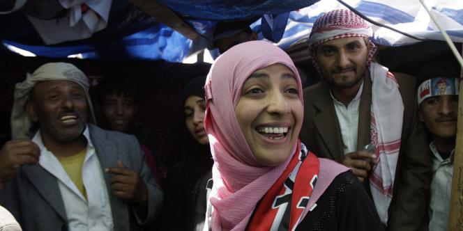 Féministe et islamiste, cette jeune Yéménite de 32 ans est une icône de la lutte contre le régime du président Saleh.