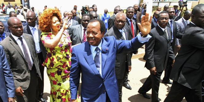 Le président camerounais Paul Biya à Yaoundé le 9 octobre 2011