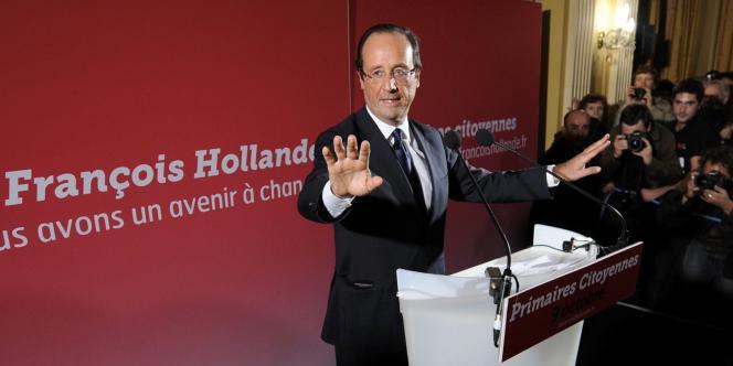François Hollande, le 9 octobre 2011, à Paris.