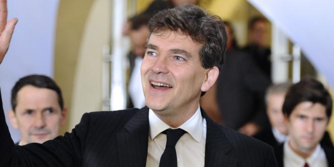 Arnaud Montebourg  au siège du parti socialiste, rue de Solférino, dimanche 9 octobre.
