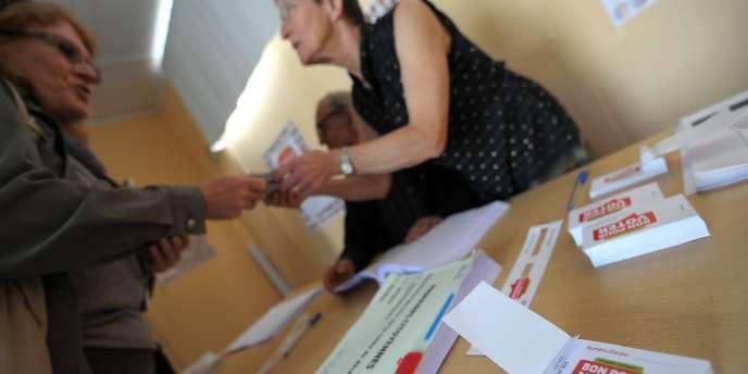 Un bureau de vote pour la primaire socialiste dimanche 9 octobre.