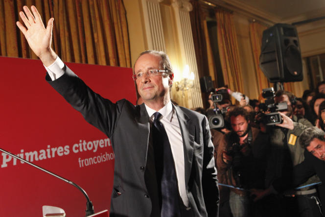 François Hollande à la Maison de l'Amérique latine, dimanche soir 6 octobre.