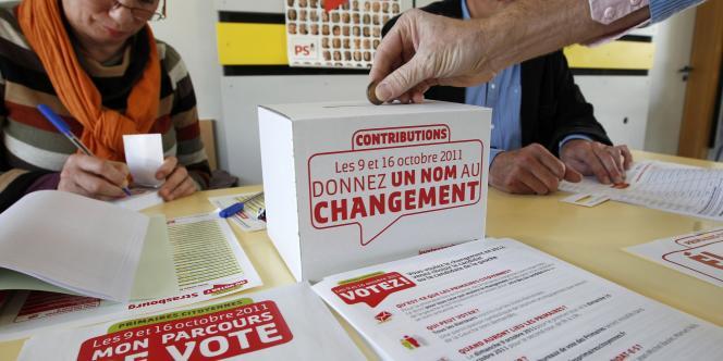 Vote à la primaire socialiste à Strasbourg, le 9 octobre 2011.
