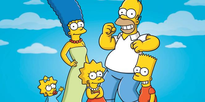 Maggy, Marge, Lisa, Homer et Bart Simpson, héros de la plus vieille série encore en cours.