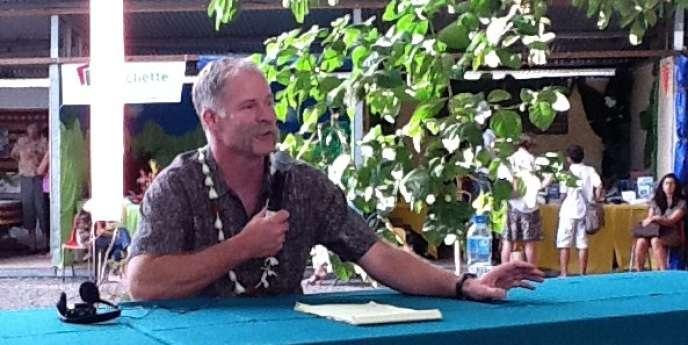 L'écrivain américain Pete Fromm, lors du 11e salon