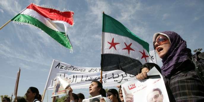 Manifestation en hommage à Tamo, le 8 octobre 2010 à Qamichleh.