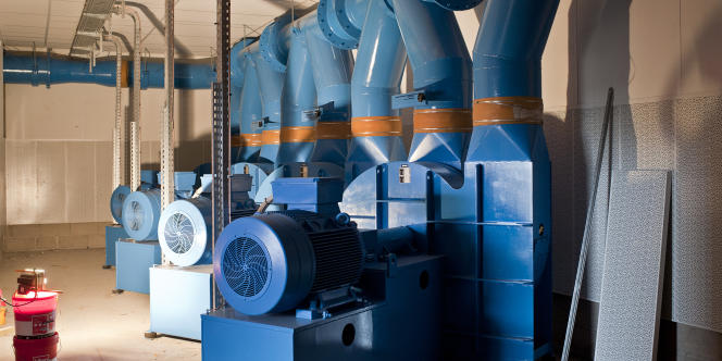 Des turbines aspirent les déchets dans les bornes.