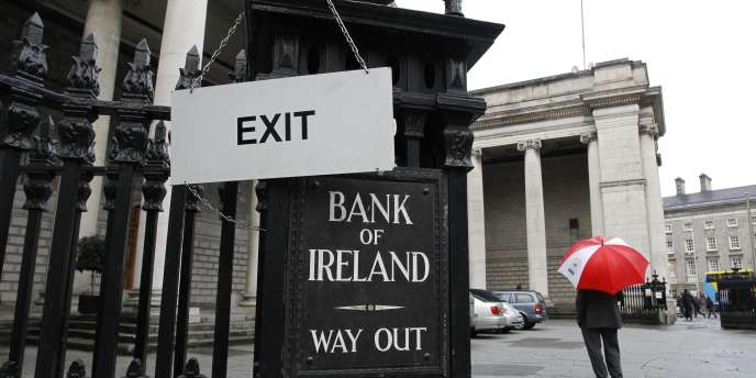 Le siège de la Banque d'Irlande à Dublin, en novembre 2010.