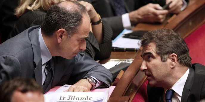 Jean-François Copé et Christian Jacob, le 4 octobre 2011, à l'Assemblée nationale.