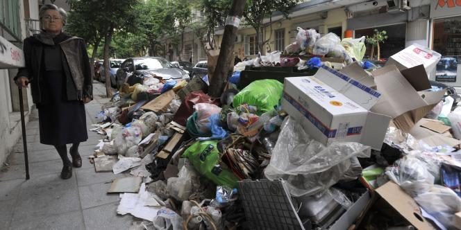 Salonique, le 11 octobre 2011, touchée par une grève des employés municipaux.