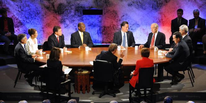Les huit candidats républicains se rencontraient lors d'un débat mardi 10 octobre.