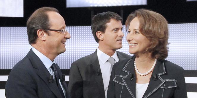 François Hollande, Manuel Valls et Ségolène Royal, le 15 septembre 2011.